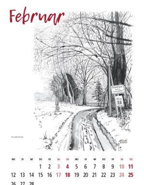 Kalender Gildehaus Feb