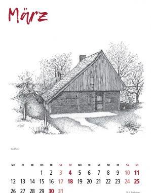 Kalender Gildehaus März