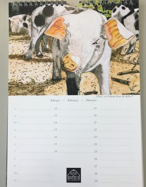 Schweine Kalender